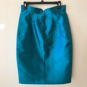 Zac Posen High Waisted Teal Skirt